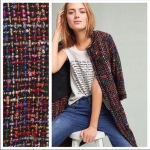 Anthropologie ett:twa Tweed Berwyn Jacket Coat